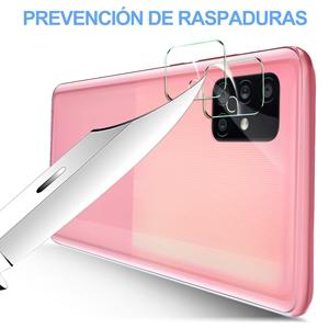 MSOVA para Samsung Galaxy A51 Protector de Pantalla +Protector Cámara,Cristal Templado Alta Definición Resistente a Arañazos Protector Pantalla para Samsung Galaxy A51. Transparente(2 Piezas): Amazon.es: Electrónica