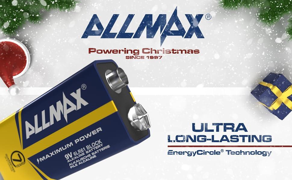 allmax battery, ultra long lasting, energy circle technology, ultra long-lasting