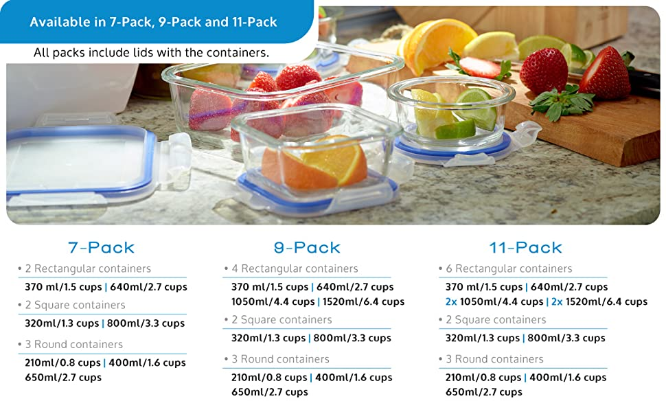 1790 Food Storage Container sizes