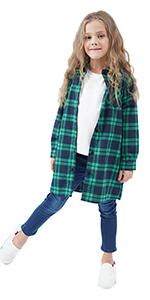 Cotton Flannel Check Plaid Shirt Dress