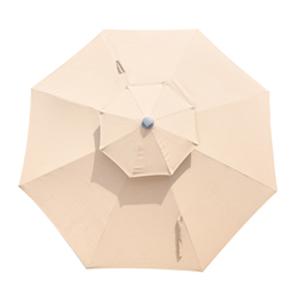 10ft waterproof umbrella outdoor patio beige