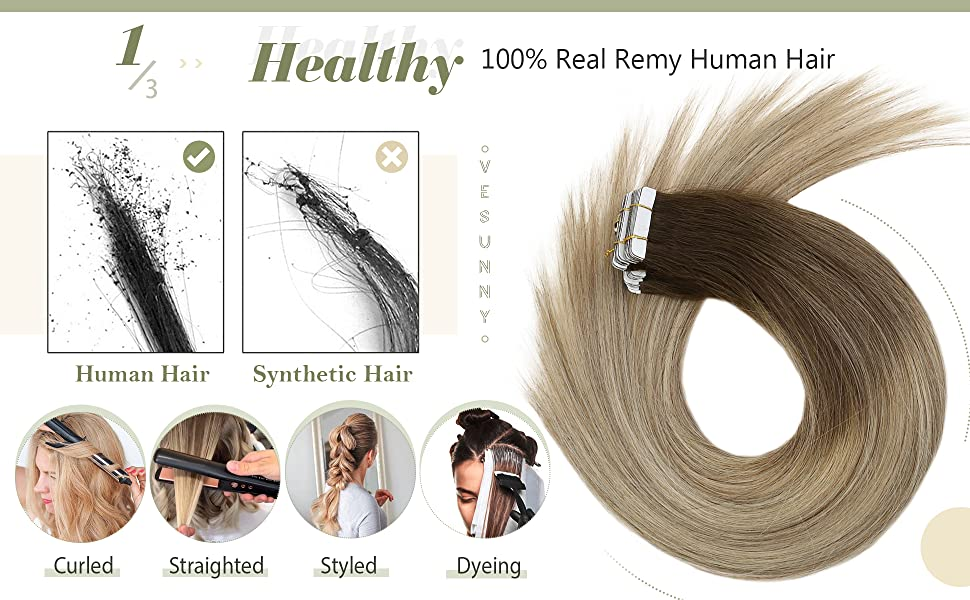 Tape in Hair Extensions Balayage Human Hair