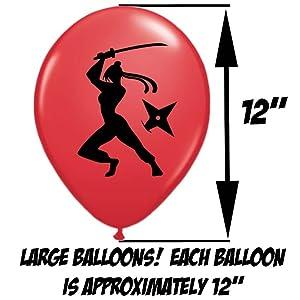 ninja party birthday balloons