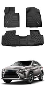 LASFIT Floor Mats custom fit for 2016-2020 RX