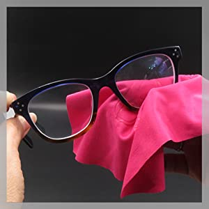 eyeglass cleaning cloth pink myeyeglass case