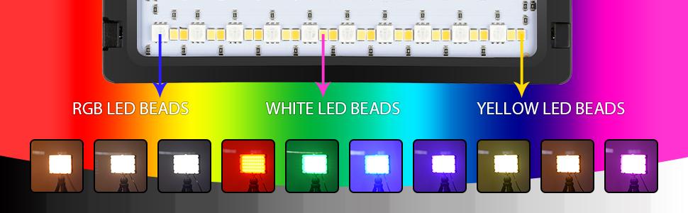 rgb led video light