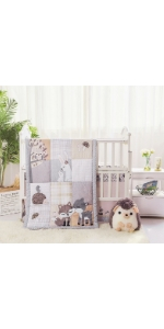 La Premura Woodland Animals Baby Crib Bedding Set for boys and girls