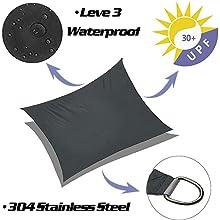 waterproof sun shade sail UV Block square sun shade