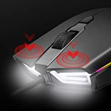 2  ABKONCORE Gaming Mouse A900 [16,000 DPI], Wired, USB Computer Mice with 8 Programmable Buttons, PWM 3389 Sensor, RGB Backlit, Comfortable Grip Both Handed Mice for Laptop, PC, Mac, Windows 9b90a77d 4b3b 4142 8653 a6acfcd0d51f