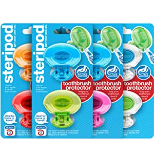 steripod toothbrush protector sanitizer family pack