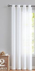 Linen Texture sheer curtains