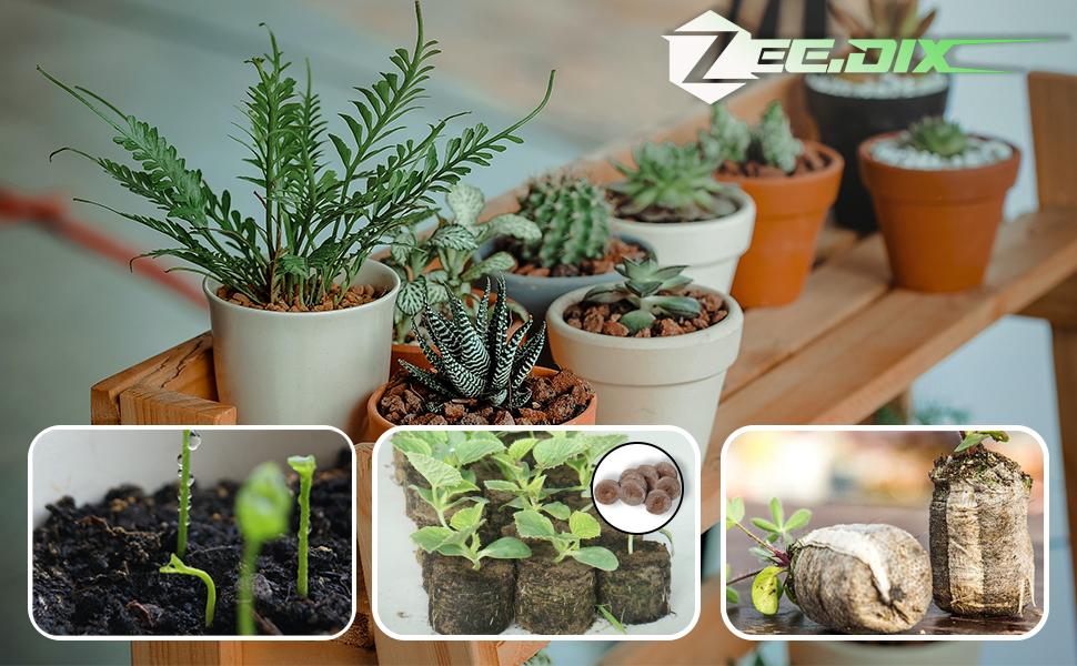 50 unidades bloque de nutrici/ón para semillas para cultivo de plantas de jard/ín propagaci/ón de germinaci/ón 50 pastillas de turba comprimidas hinchables con nutrientes