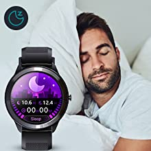 Sport smartwatch with sleep tracking