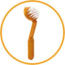 brosse pour le nettoyage des salles de bain, des cuisines. Brosse robuste à large manche.