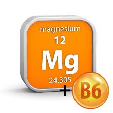 Magnesium oxide and B-6 B6 vitamin