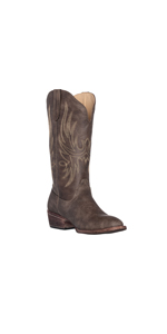 Women's Cowboy Cowgirl Round Toe Western Boot for Women