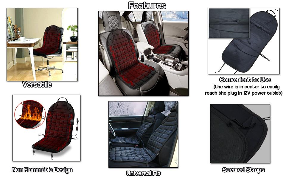 Car Heated Seat Cover Cushion