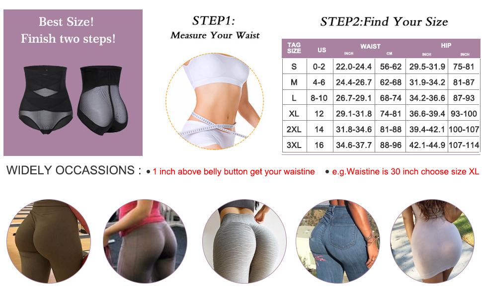 YERKOAD Shapewear for Women Waist Trainer Tummy Control Butt Lifter Panties Hi-Waist Short Stomach Body Shaper Cincher Girdle