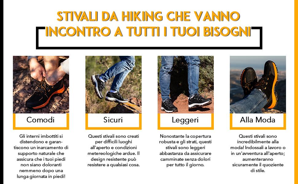 Questi stivali waterproof per hiking sono ultraleggeri, alla moda e pronti per accettare ogni sfida