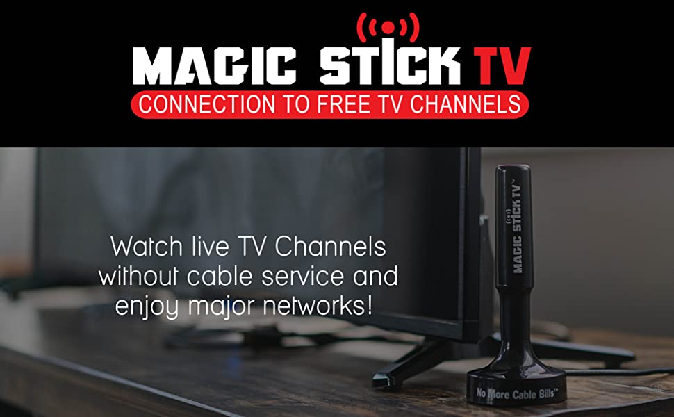 Magic Stick TV Max HD - Antenna TV Digital HD - TV Antenna for Digital TV  Indoor - Outdoor HD Antenna - Amplified HD Digital TV Antenna - Signals Up