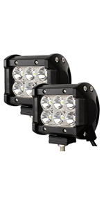 Hengda 2x48w Led Arbeitsscheinwerfer-IP67 Wasserdicht Arbeitsleuchte 4320 LM,10-30V DC,6500KLED Zusatzscheinwerfer f/ür SUV Truck Traktor oder schweres Ger/ät