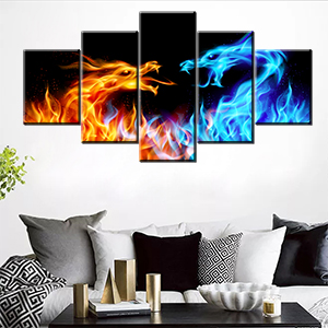 living room house decoration vintage retro black wild life drawing mural old gift abstract canvas
