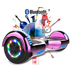 GeekMe 6.5 Zoll Self Balance Scooter Elektroroller mit Bluetooth und Blinkenden R/ädern E-Board Hover E-Skateboard