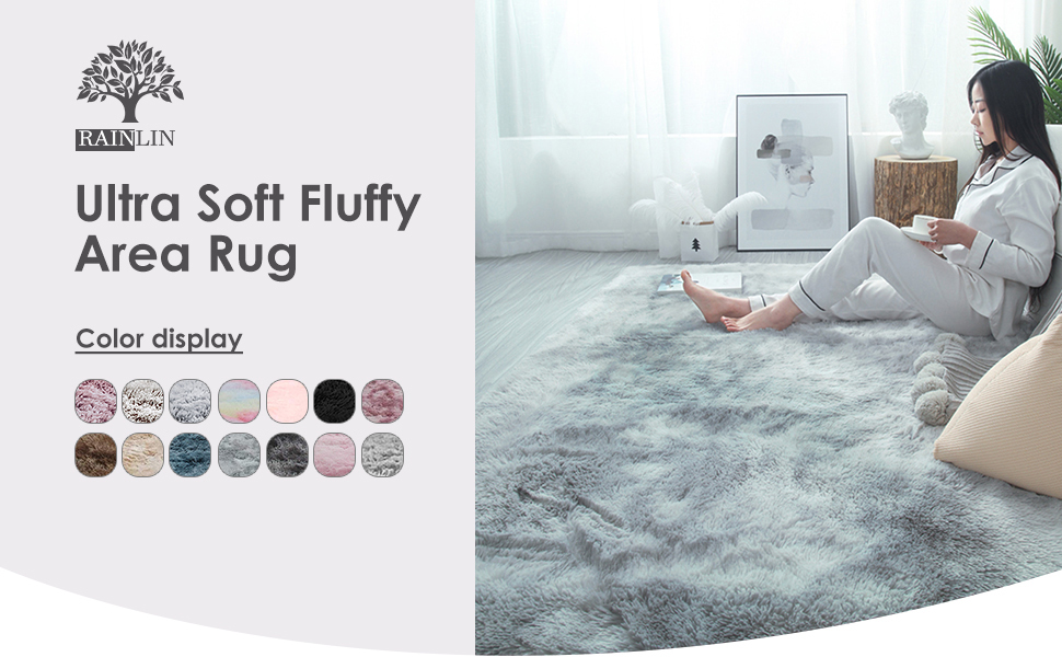 area rug 7x10 soft shag plush area rug 5x8 living room cozy carpets bedroom modern Fluffy Rug Luxury