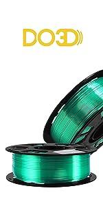 silk green filament pla