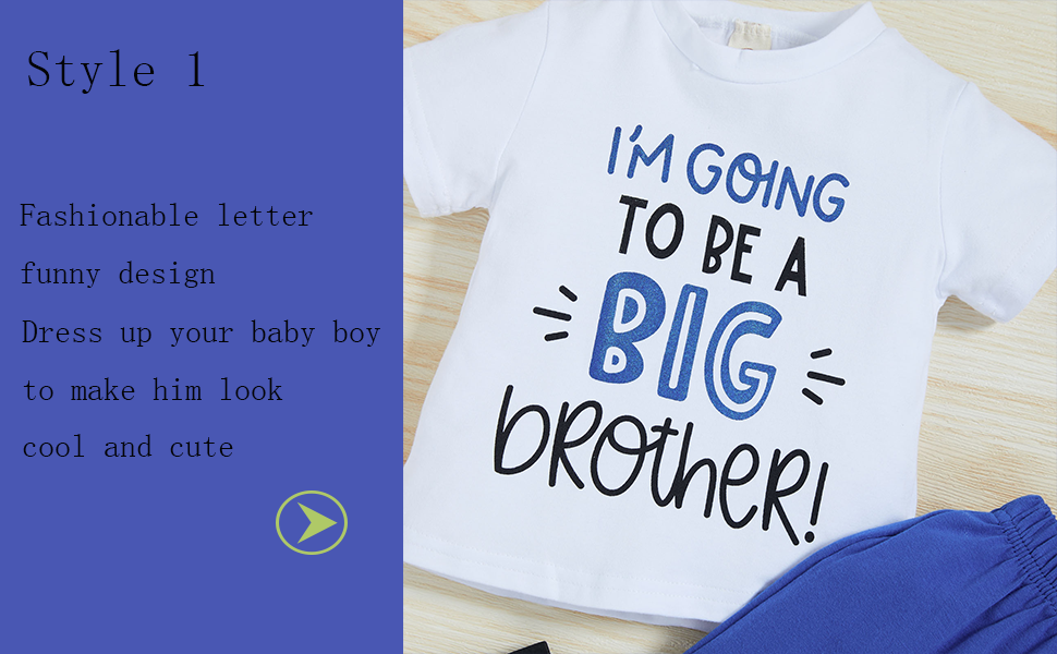 I'm going to be a big brother outfits