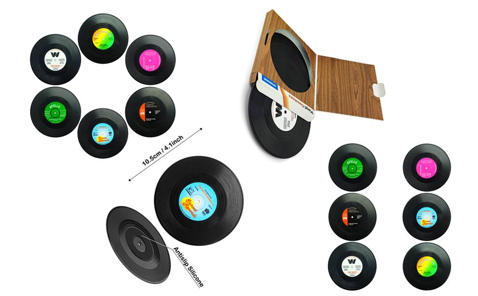 Coasters Retro Vinyl Record Mats Placemats