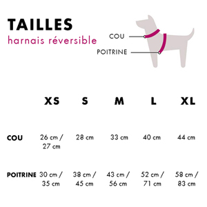 Dogtella, L Harnais de Chien R/éversible avec Motif Dessin/é Dukier