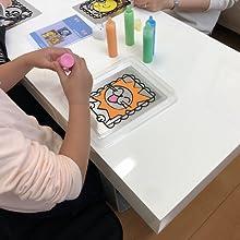 ペタペタ焼き 作り方 ビニール焼き画