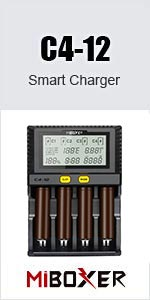 c412 fastest charger for rechargeable battery 22650 25500 26500 26650 Ni-MH Ni-Cd AAAA AAA AA A SC D