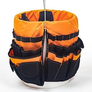 Rugged Tools Malone Tool Bucket Organizer Bag