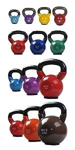 vinyl kettlebell set weights kettle bell heavy light pair competition pro grade coloured neoprene
