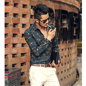 COOFANDY Men's Slim fit Floral Printed Shirt Short Sleeve Casual Button Down Shirts