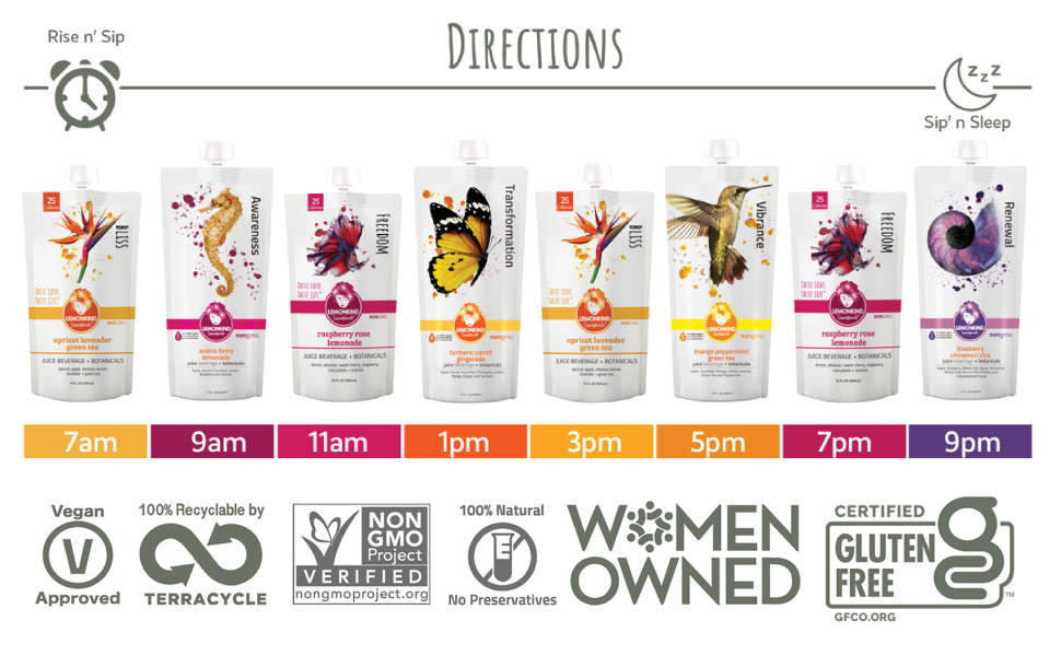 vegan nongmo recyclable natural women owned gluten free drinking directions