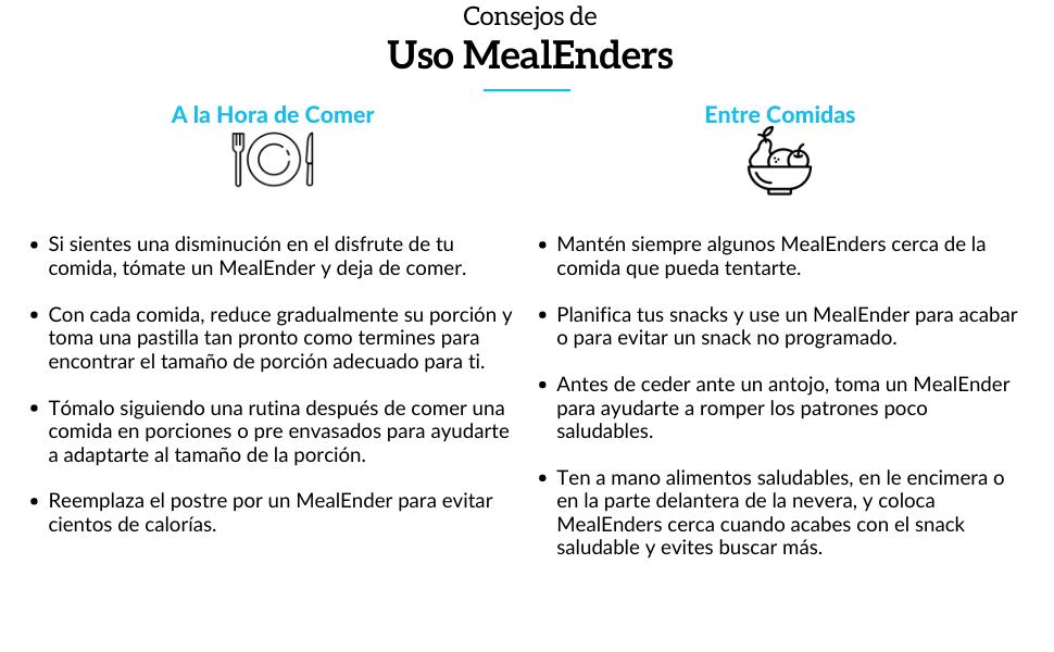MealEnders Pastillas para el Control de Antojos | Deje de comer en exceso, frene los antojos y reduzca los bocadillos | 25-Incluidas