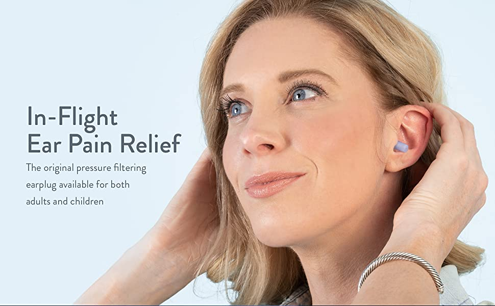 In-Flight Ear Pain Relief. The original pressure filtering earplug for adults and children.