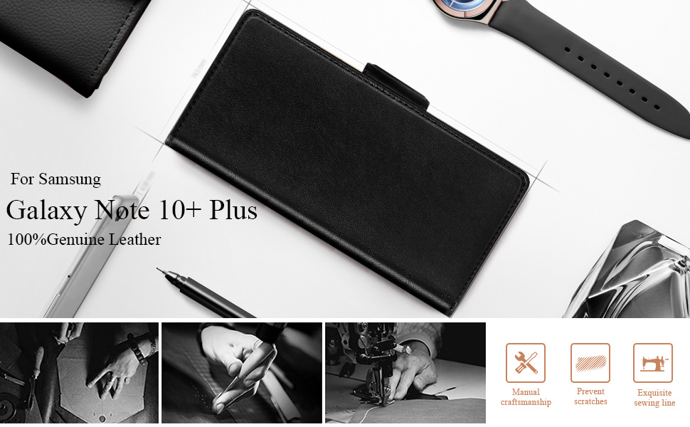 Samsung Galaxy Note 10 Plus 5G Flip leather Wallet Phone Case Protective Shockproof Cover