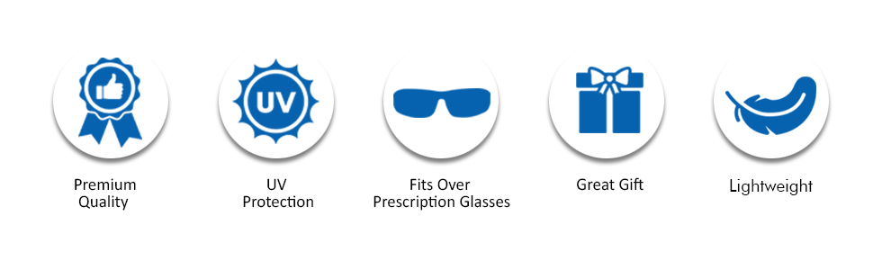 Polarized fit over sunglasses for teens