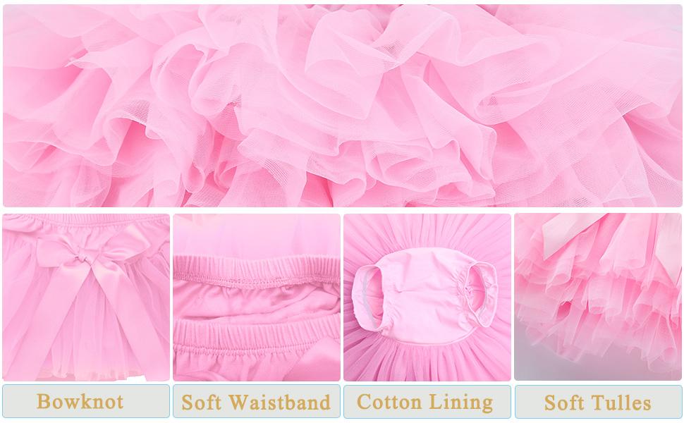 Baby Girls Tutu Skirt Infant Tulle Tutus Newborn Soft Skirts for Toddlers