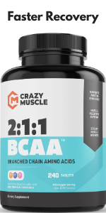 BCAA Capsules with the Perfect 2:1:1 Ratio of Branched Chain Amino Acid