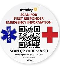 Windshield Emergency ID Decal