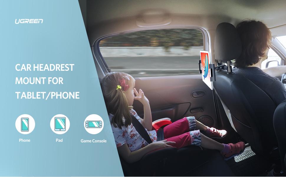 UGREEN Car Tablet Headrest Mount Tablet Holder Cradle