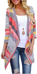 boho striped cardigan kimono