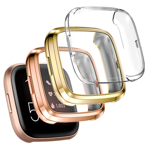 rose gold, gold, silver 3pack protector cases for Fitbit Versa 2