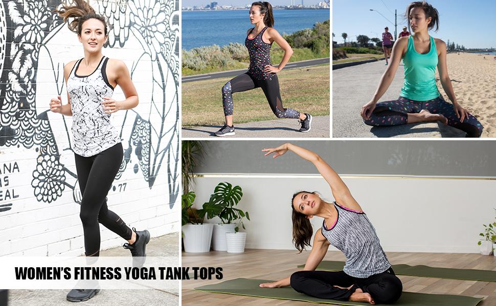 Women's Active Basic Workout Clothes Yoga Tank Top