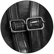 Frauen Rucksack Geldbörse Leder Damen Handtaschen wasserdichte Taschentaschen schwarz